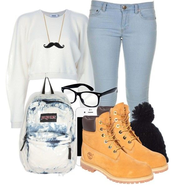 Cute Outfits with  black Timberlands | fashion winter outfits 3 winter school outfit created by wildberrii ...