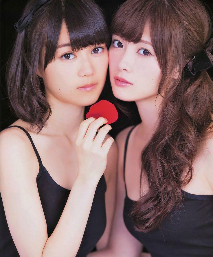 Ikuta Erika (生田絵梨花) & Shiraishi Mai 白石麻衣 - Asian セクシー (^o^)