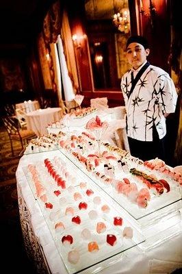 I will definitely have a sushi bar at my wedding