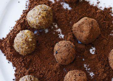 Sunde kugler med hvid chokolade og lakrids