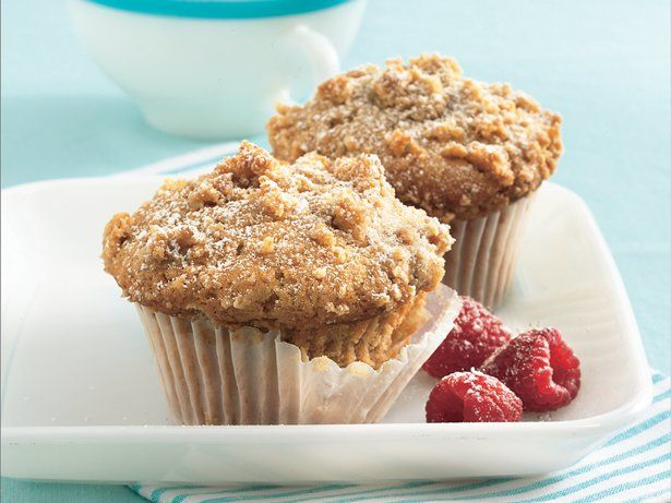 Brown sugar and cinnamon flavor these crumbly cupcakes - a delightfully warm treat.