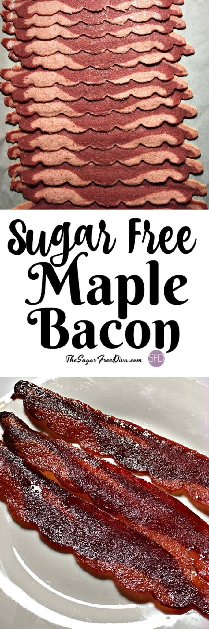 YUM! I like this Sugar Free Maple Roasted Turkey Bacon idea! #sugarfree #lowcarb #bacon #keto #breakfast  Could be the best #bacon #hack ever #video