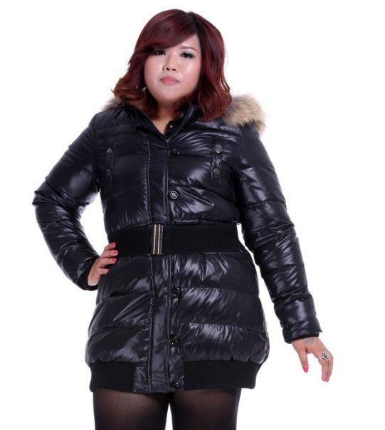 Free shipping black plus size duck down down jacket big size ...
