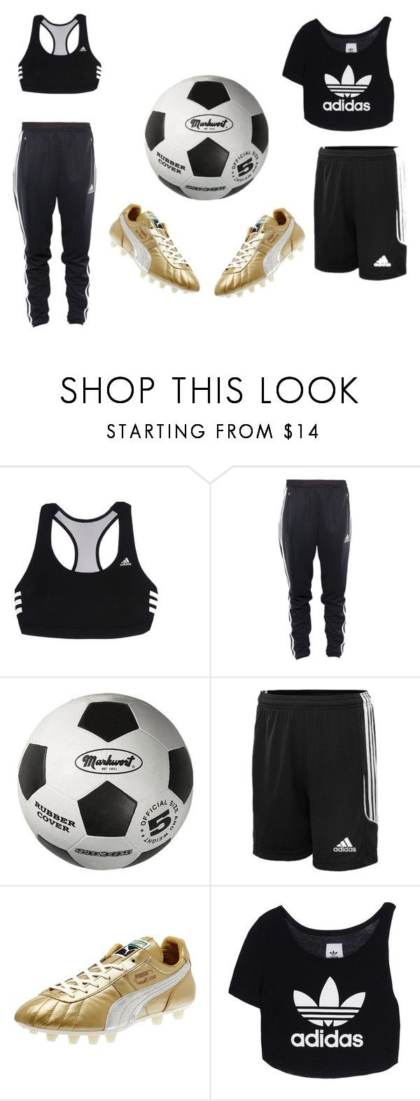 """#soccer"" by jasminegonzalez1203 ❤ liked on Polyvore featuring adidas, Puma and adidas Originals"