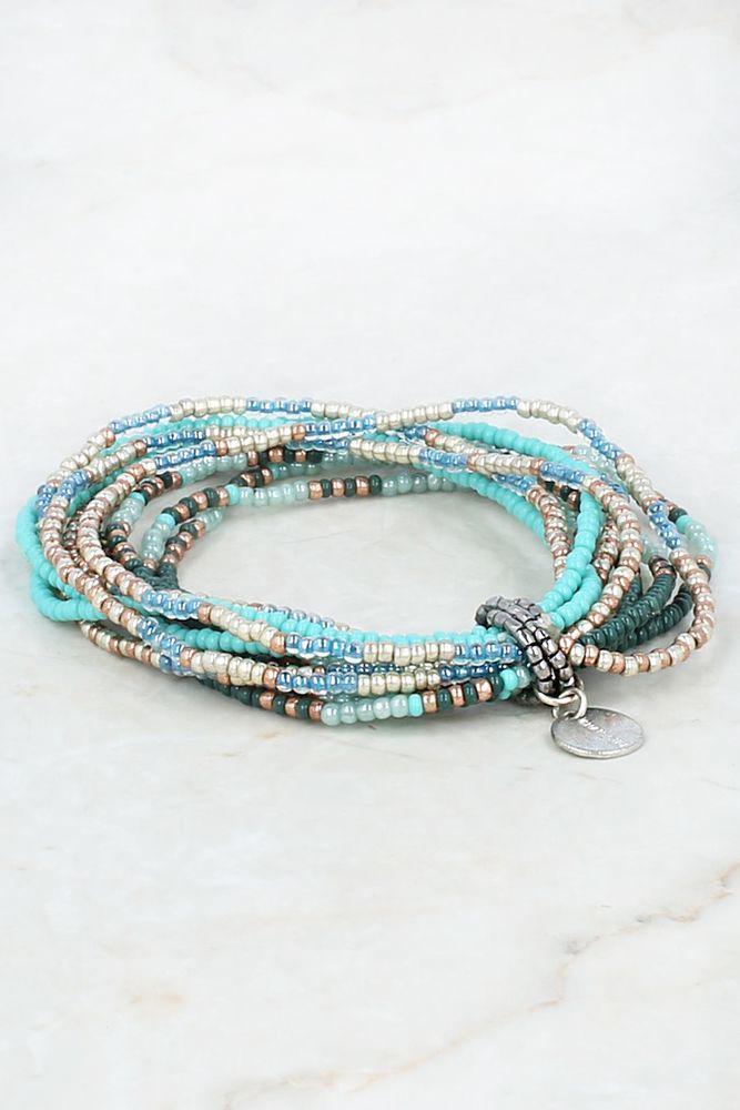 Chan Luu - Granite Green Multi Strand Stretch Bracelet, $33.00 (http://www.chanluu.com/bracelets/granite-green-multi-strand-stretch-bracelet/)