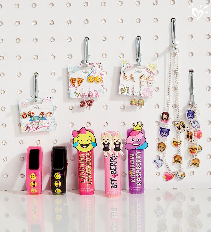 Emojis here, emojis there... take your smiles everywhere with emoji jewelry, activity trackers and lip balms.