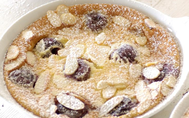 Filled with cherries and almonds, this pudding is perfect for an easy sweet treat.