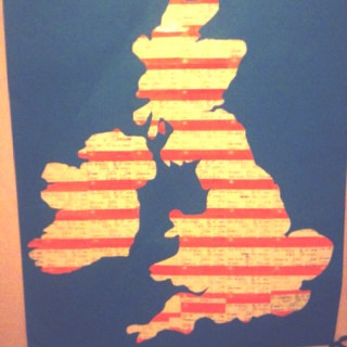 The UK. Made of Train Tickets