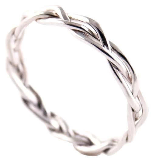 Wedding band three strands are not easily broken for Three strand wedding ring