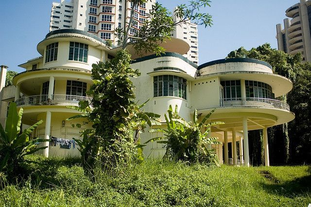 Abandoned art deco mansion in Hong Kong.