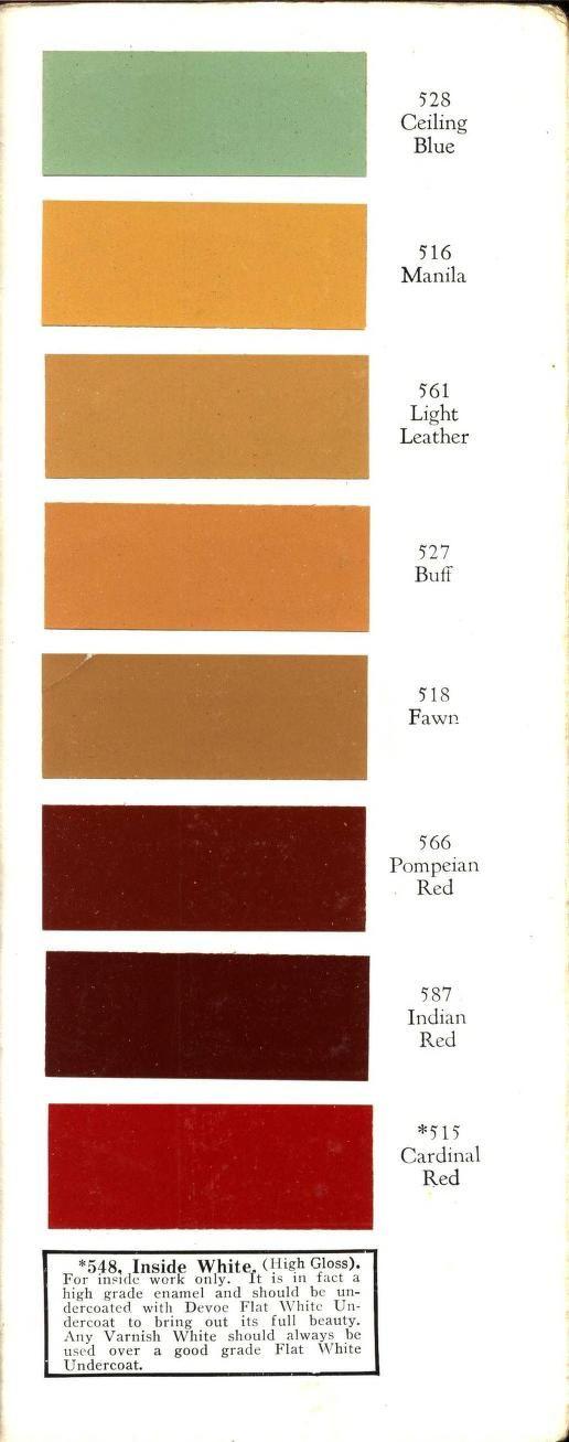 Devoe Color Chart