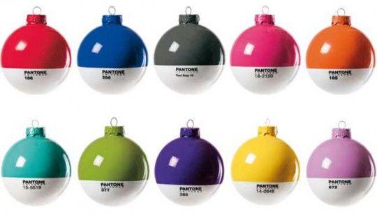 Pantone Christmas balls. (cc @Rachel Burns)