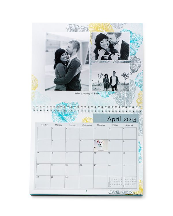 Customized photo calendars let the bride and groom relive their favorite moments from their wedding day every month | Shutterfly.com