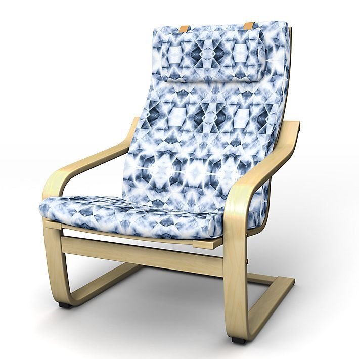 $79 + 170 (250) Poäng, Armchair Covers, Armchair, Regular Fit using the fabric Ondes Deep Navy Blue
