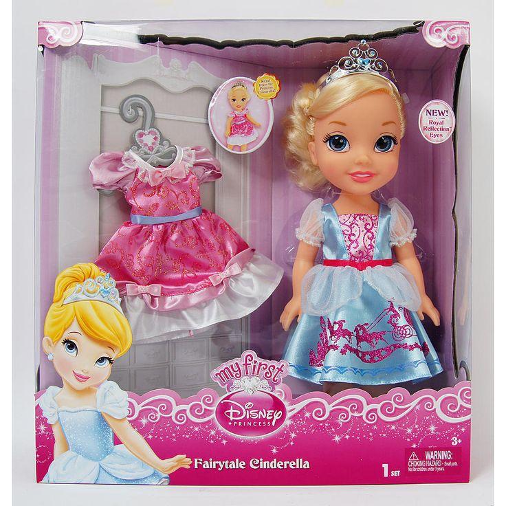 My First Disney Princess Toddler Doll -  Cinderella with extra outfit NIB #Disney