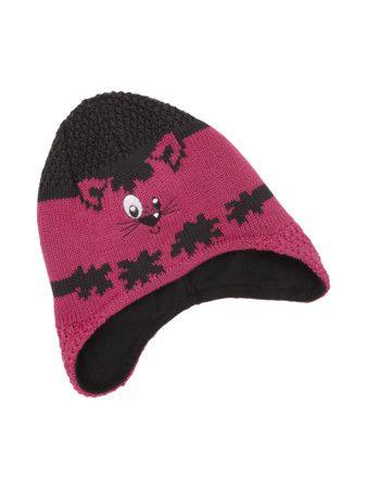 MAXIMO Feinstrick Mütze mit Stickerei in Dunkelrot | FASHION ID Online Shop