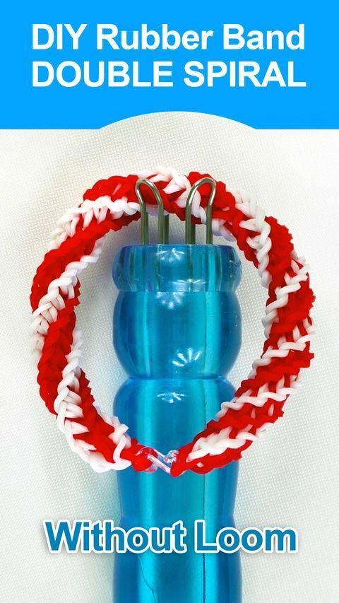1000 images about rubber band loom on pinterest loom for Rubber band crafts without loom