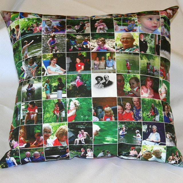 Photo pillow on linen-cotton by Spoonflower Fabrics, via Flickr