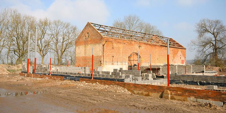 This barn redevelopment is progressing quickly. Since laying foundations we have begun external and internal block work as well as digging a swimming pool.