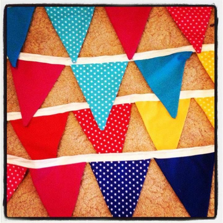 Rainbow bunting can cheer up any room gezam.creations@gmail.com