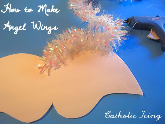 how to make angel wings for all saints day costume