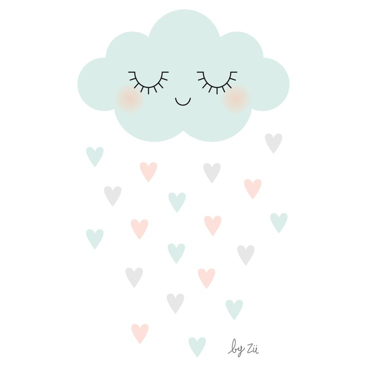 Cloud & Raining Hearts