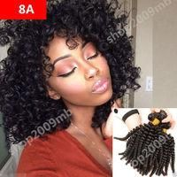 8A Afro Kinky Curly Human Hair Extension 100g Per Bundle Brazilian Hair Weave #afflink