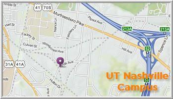 UT Nashville Campus Map
