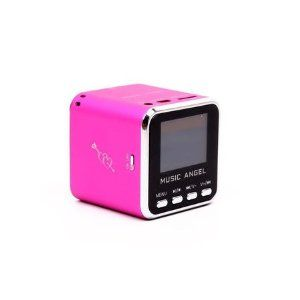 Music Angel mini speaker fm radio LED Screen for IPOD Iphone MD08 PINK by I MUSIC ANGEL. $19.10. Black Music Angel Mini speaker Box with Screen Features: Deemed as perfect combination of classic and modern performance, and it is praised as masterwork of audio boxes New mini aluminum vibration film loud speaker which has clear alt and pure woof, the unique design makes tome performance perfect Use at anywhere you like Mini audio box with new concept integral stereo portable mob...