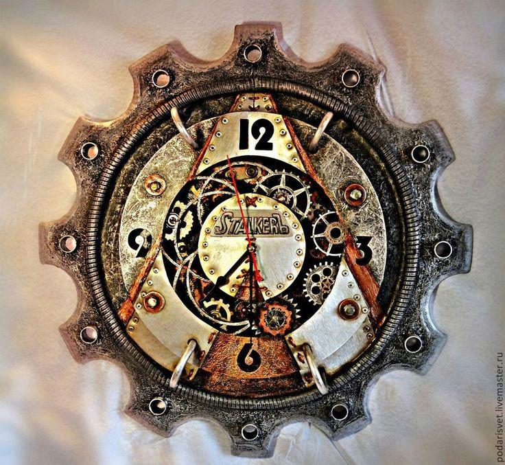 Купить Часы настенные.Шестиренка - часы настенные, подарок мужчине, часы интерьерные, часы для дома