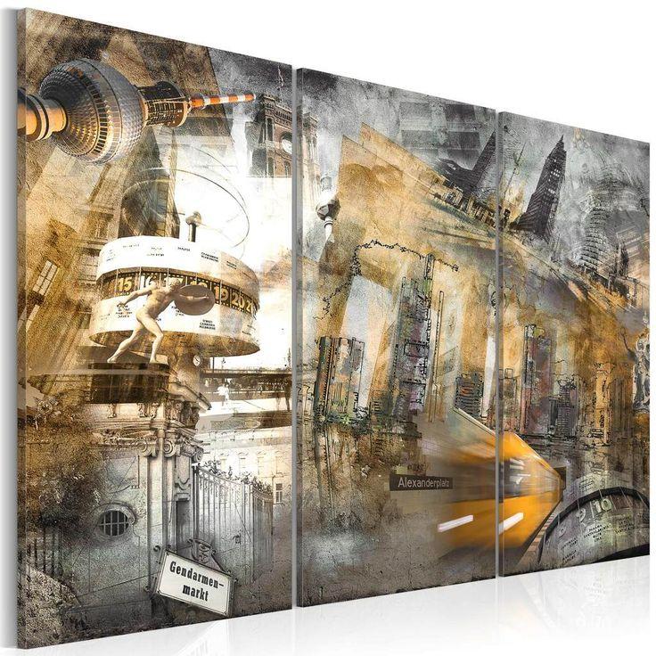 Trend Modernes Wandbild x Teilig Bilder Fotografie auf Vlies Leinwand Foto Bild Dekoration Wand Bilder Kunstdruck Berlin