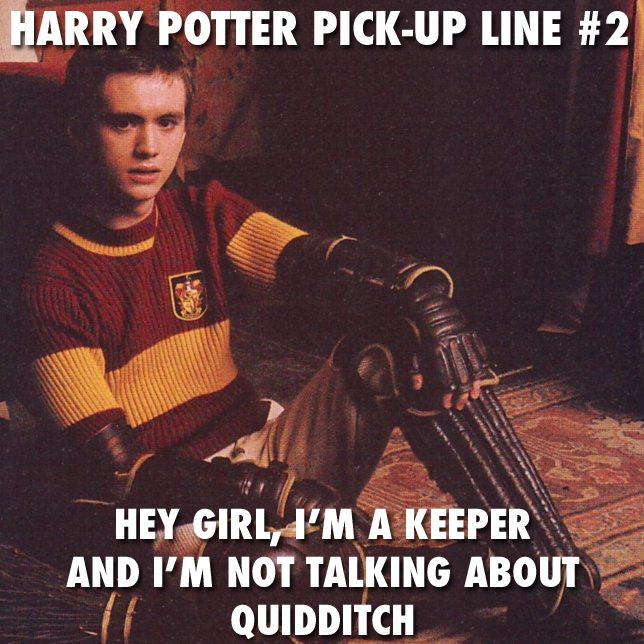 Harry Potter pick up line