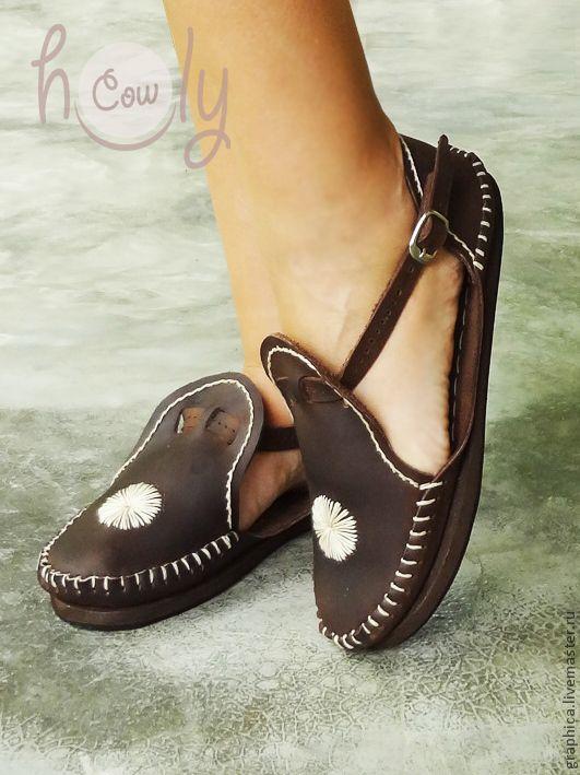 """Купить Коричневые кожаные сандалии """"Crazy Love"""" - коричневый, сандалии, кожаные сандалии, сандалии из кожи"""