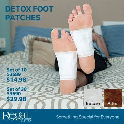 """DETOX FOOT PATCHES  All-natural, premium detox foot patches contain vegetable dextrin, menthol and other natural ingredients to promote natural detoxification and enhance your body's health. They work overnight to help increase circulation, improve immunity, reduce stress, pain and relieve sore, tired and swollen feet. 5""""L x 3-3/4""""W"""