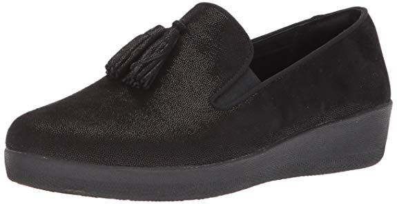 50e543b1e31 FitFlop Women s Tassel Superskate Shimmer Loafer  Loafers   Slip-Ons ...