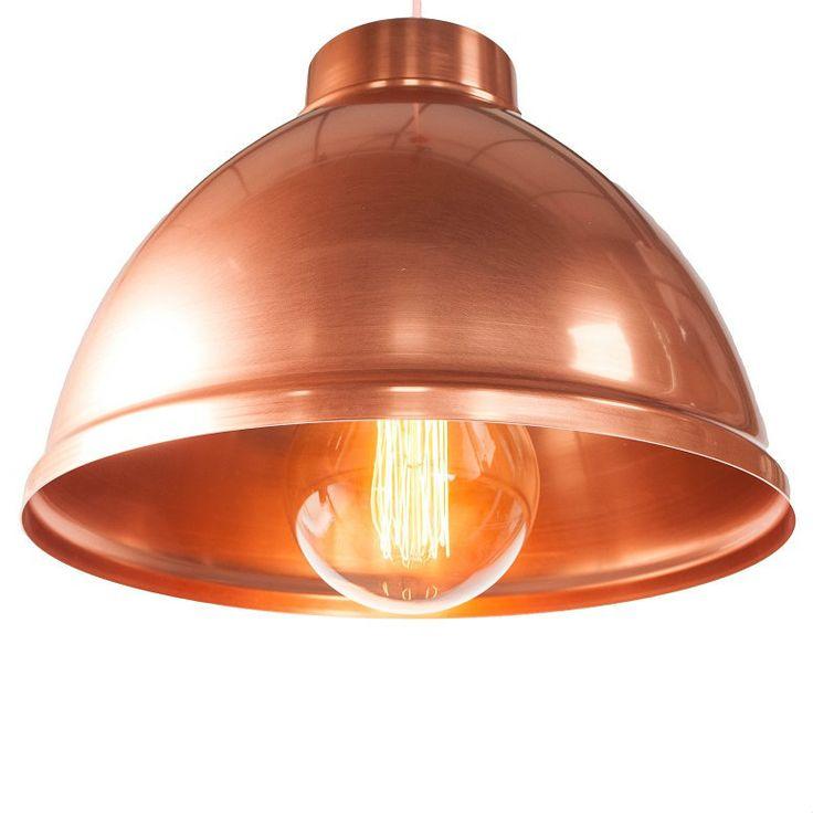 "Giant Copper Dome Pendant Light 18""   NuCasa UK"