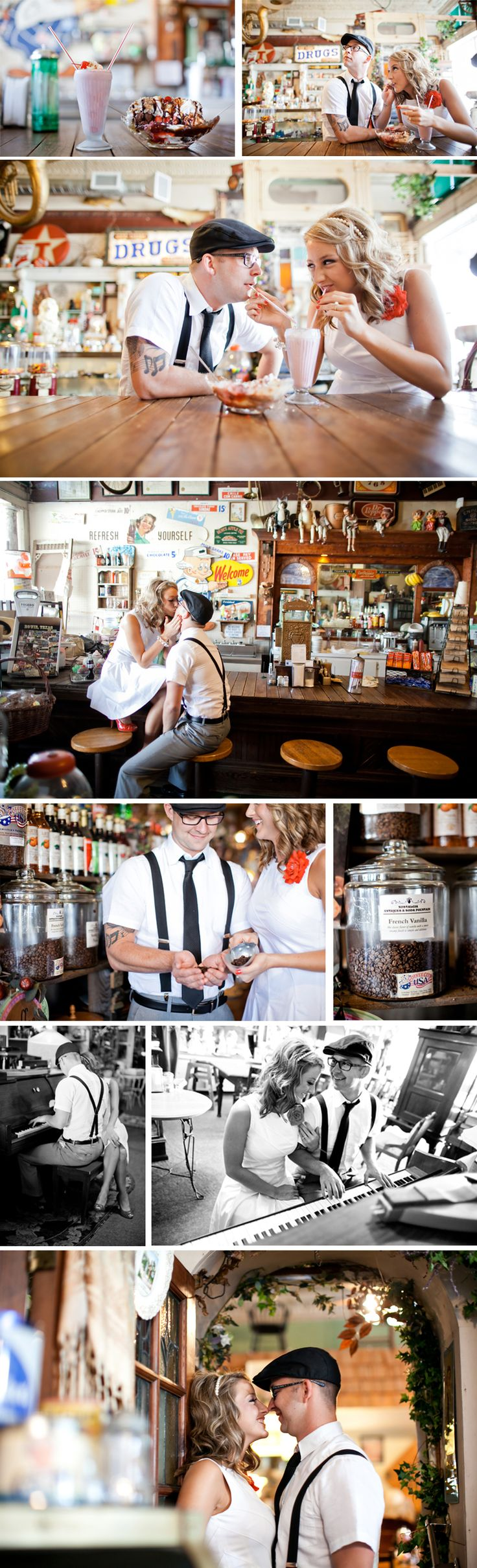 """I hope to achieve the same """"vintage"""" feel on my e-shoot! http://www.meeganweaverphotographyblog.com/2011/05/antique-vintage-engagement-pictures-lexieben/"""