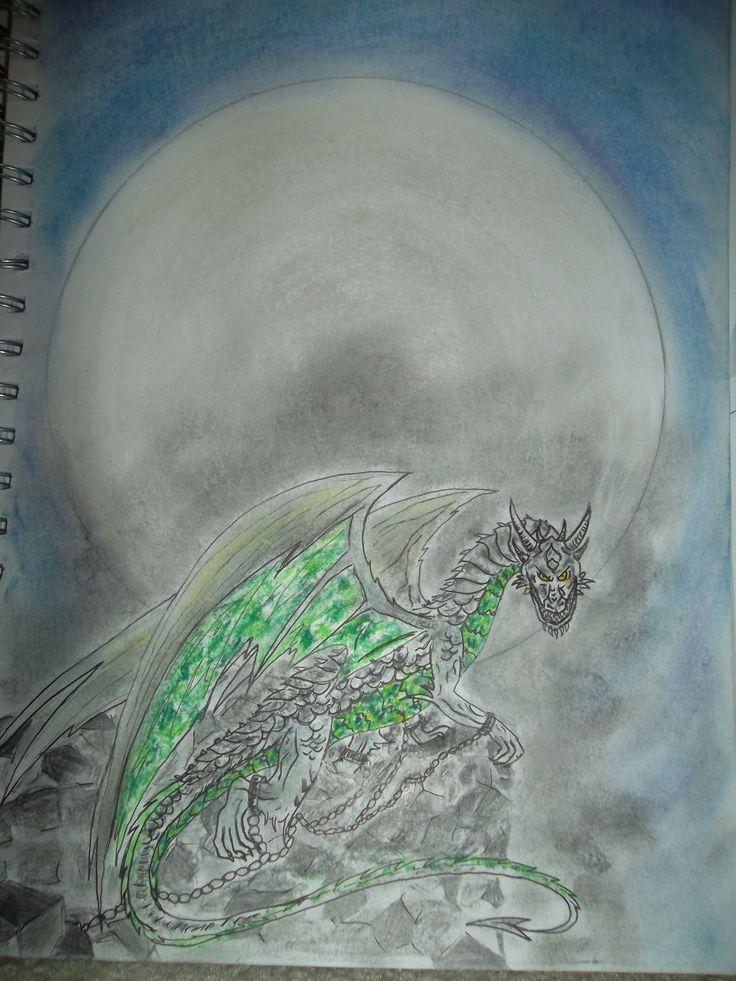 Entry 19: 'Ash Dragon' by Louise, age 14