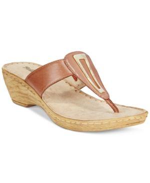 Bella Vita Sulmona T-Strap Wedge Sandals - Tan/Beige 5.5M