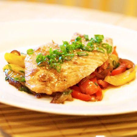 Filete de pescado a la poblana comida mexicana for Comida para tilapia