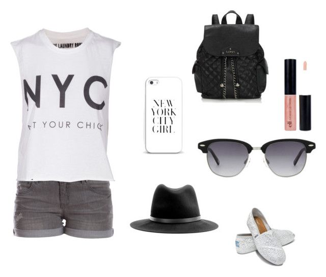 Recorre NY <3 by romi-lagos-vilches on Polyvore featuring moda, The Laundry Room, Pieces, TOMS, Lipsy and rag & bone