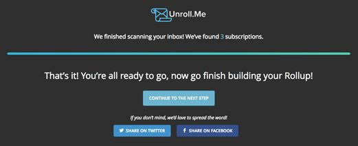 unroll me share call to action