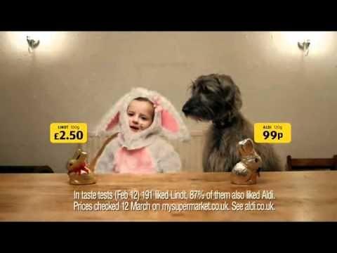 Aldi Chocolate Bunny Advert