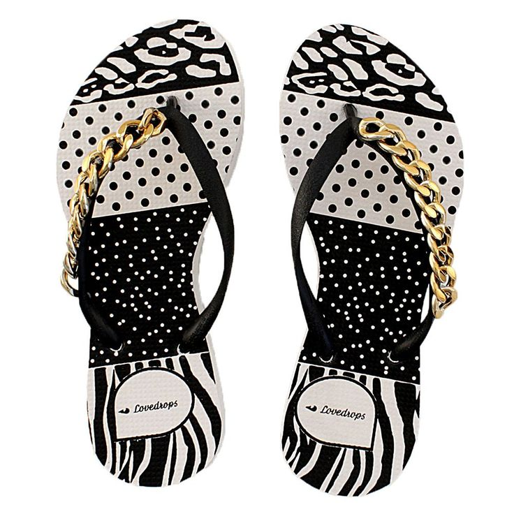 17 Best Images About Black And White Polka Dot Flip Flops