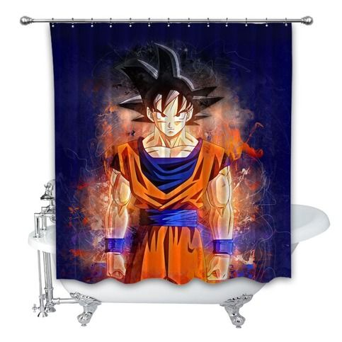 Dragon Ball Z Heroes Anime Custom Shower Curtain 100% Polyester