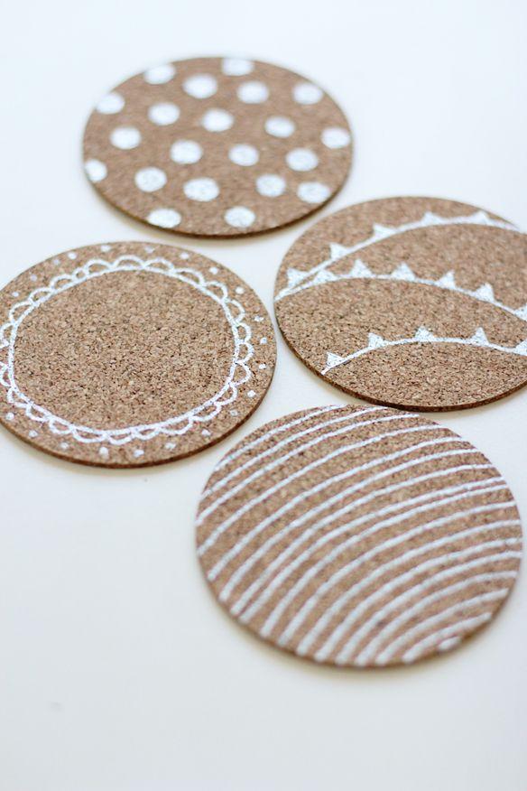 diy coastersDiy Coasters, Painting Corks, Diy Painting, Coasters Ideas, Painting Coasters, Custom Coasters, Corks Coasters, Fellows Fellows, Crafts