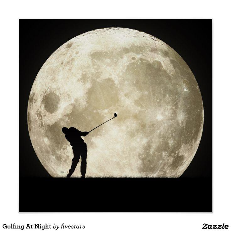 Golf spielen nachts poster