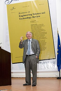 Dimitri Nanopoulos (Greek: Δημήτρης Νανόπουλος; born 13 September 1948 in Athens) is a Greek physicist. He is one of the most regularly cited researchers in the world, cited more than 35,800 times over across a number of separate branches of science.