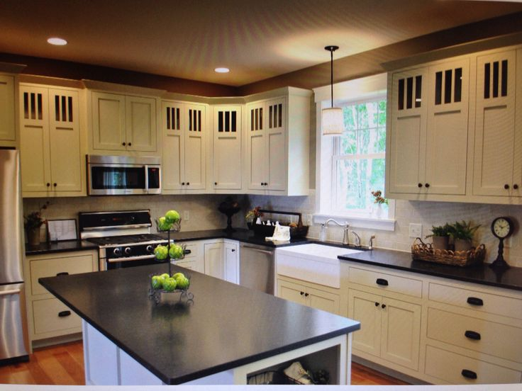 pictures of kitchen tile backsplash black pearl granite white cabinets amp backsplash 7470
