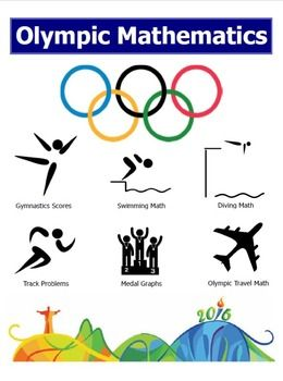 Summer Olympics Math Set:  Take Advantage of the Rio Summer Olympic Games with rigorous and relevant problem sets that not only increase math skill but also teach about the Summer Olympics!This Summer Olympics Math Set includes 8 ready made and attractive  Olympic problem sets that center around several Summer Olympic sports and themes.